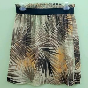 H&M Floral brown double layered skirt size 6